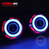 Vision Guangzhou motorcycle part 12v angel eyes double angel eyes hid xenon projector lens