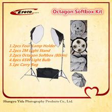 2014 migliore vendita accessori fotografici ottagono softbox fotografiain studio della luce kit