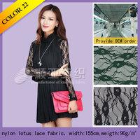 polyester lycra warp Lotus bulk lace fabric