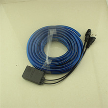rechargeable battery for led light China manufacture christmas 2 Wires 3 Wires RGB blue rice rope light