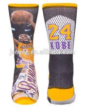 Basketball player sublimation printing socks