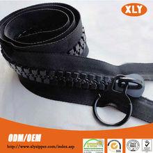 Hot apparel accessory big teeth oversize zippers heavy duty plastic zipper