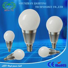 Hot Sales Sensor High Bay S 8w e27 white led plastic housing bulb light