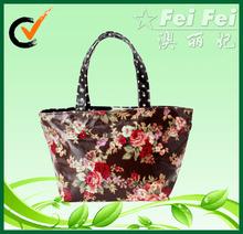 Full print flower laminated pp non woven tote bag for shopping