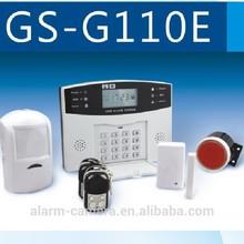 Cheapest wireless intruder alarm system burglar alarm G110E!GSM home intruder alarmfor Auto-dial/SMS/Monitor/Intercom/Spanish