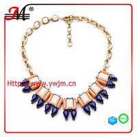 NK4988 2014 new design European and America brand geometric blue tear drop fashion necklace jewelry