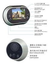 3.5 polegada tela lcd clear imagem de eletrônica digital door viewer