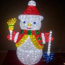 Led snowman motif christmas decorations