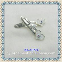 2014 fashion heart shape hair snap clips hairpins for girls