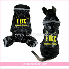 XS-5XL FBI Raincoat for Big Dog