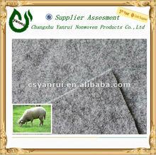 Grey 100%wool felt/wool carpet backing