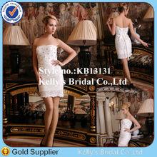 Latest Princess newly modern design short lace guangzhou dailisha wedding dress firm