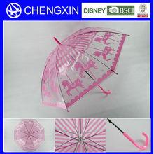 rain umbrella,plastic handle,red dot