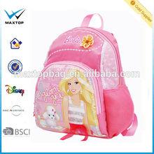 2014 Wholesale trendy barbie school bags for girl