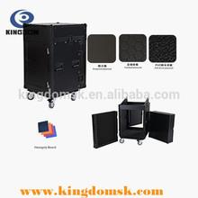Professional 19inch standard 12u fireproof board flight case with mixer DJ control 10u case for audio power amplifier equipment