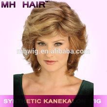 100% high temperature resistance fibre full hand tied mono wigs