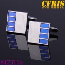 custom low profile blue cufflinks, cufflinks for mens shirts