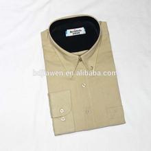 Hebei fábrica abastecimento sólido botão de cor- baixo colarinho de escritório camisa de uniforme