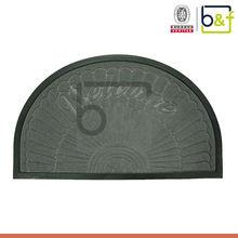 Half round welcome origin different designs new door mat price
