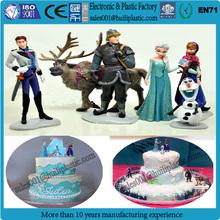 New design Plastic Frozen Elsa figurine wedding cake topper/plastic cartoon cake topper