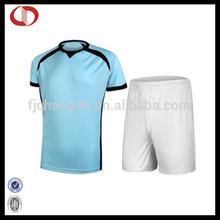 Men blue football jersey set from football&soccer jersey manufacturer