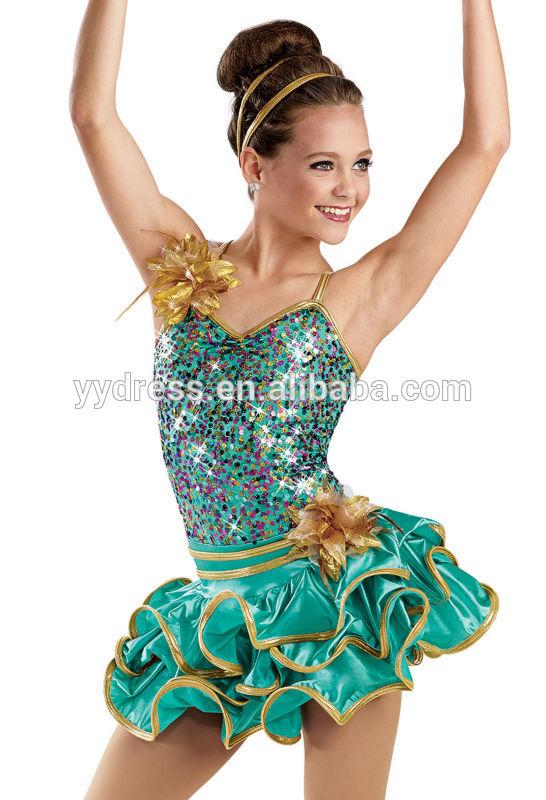 Hem Tiered Teen Girl Jazz Jazz Dance Costumes For Teenagers