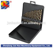 19PCS DIN338 Square Metal Box Packaging HSS-E M35 Twist Drills