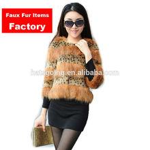 2014 Newest women's Winter Fake Faux Fur Coat