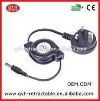 British Standard 3 pins AC Power Cord with 3.5mm DC plug
