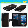 OEM! wallet leather case for iphone 5s with stand and card slots