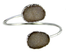 New design bracelet!!! Freeform Druzy Cuff Bracelet, fashion druzy Arm Cuff WT-B055