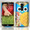 Custom Blue OWL Hard Shell Phone Case For LG G2 D803