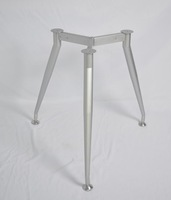 2014 big wooden top aluminum silver metal table legs