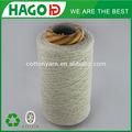 ne 8s branco cru tipos de tricô mão nova chegada reciclado de produção em massa 100 fios de algodão melange fios camisa de tecido