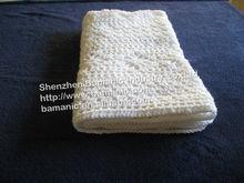 crochet white baby blanket handmade