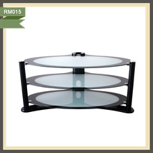 Living Room Furniture stainless steel glass typical plasma tv stand