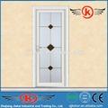 Jk-aw9001 residenciais usados porta de banheiro público/porta de alumínio para quartos/alumínio batente da porta