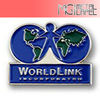 High quality hot sale custom world link metal lapel pin