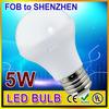 100% Brand New High-quality 5watt e27 led light bulbs made in china
