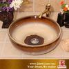 Gradual Change Colored Glaze Bathroom Wash Sink Made in Jingdezhen