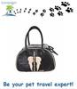 Lovoyager black PU pet bag dog carrier