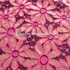 K1501 Cotton/poly/spx beautiful fashion sunflower lace fabric