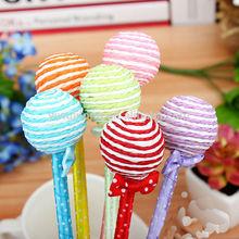 2014 China wholesale lollipop design paper material cheap ballpoint pen for promotion