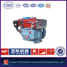 One cylinder diesel marine engine