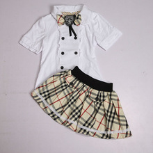 Free Sample!2014 new style 3-15 years old kids school uniforms children european children's clothes garments for boy and girl