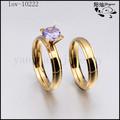 zircone in acciaio chirurgico oro 24k anello di nozze in oro