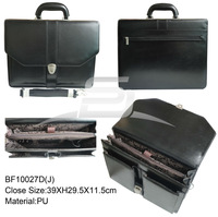 Luxury high quality PU leather briefcase for men