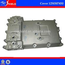 heavy duty truck spare parts aluminium gear box cover1250307450 (gearbox rear cover) for ZF gear box S6-90
