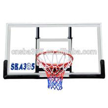 Wall mounted basketball backboard with acrylic backboard and basketball backstop