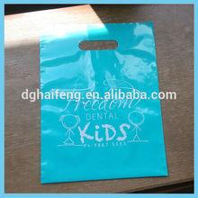 LDPE material bags plastic die cut bag shopping bag